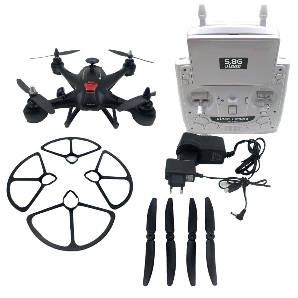 Tiean X181 5.8G FPV 2MP Camera Drone RC Quadcopter Headless Helicopter (Black) by Tiean