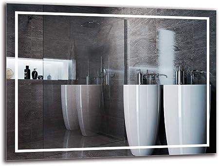 Specchio LED Premium Specchio con Illuminazione Specchio a Muro Dimensioni dello Specchio 40x40 cm ARTTOR M1CP-55-40x40 Pronto per Essere Appeso Specchio per Bagno Bianco Caldo 3000K