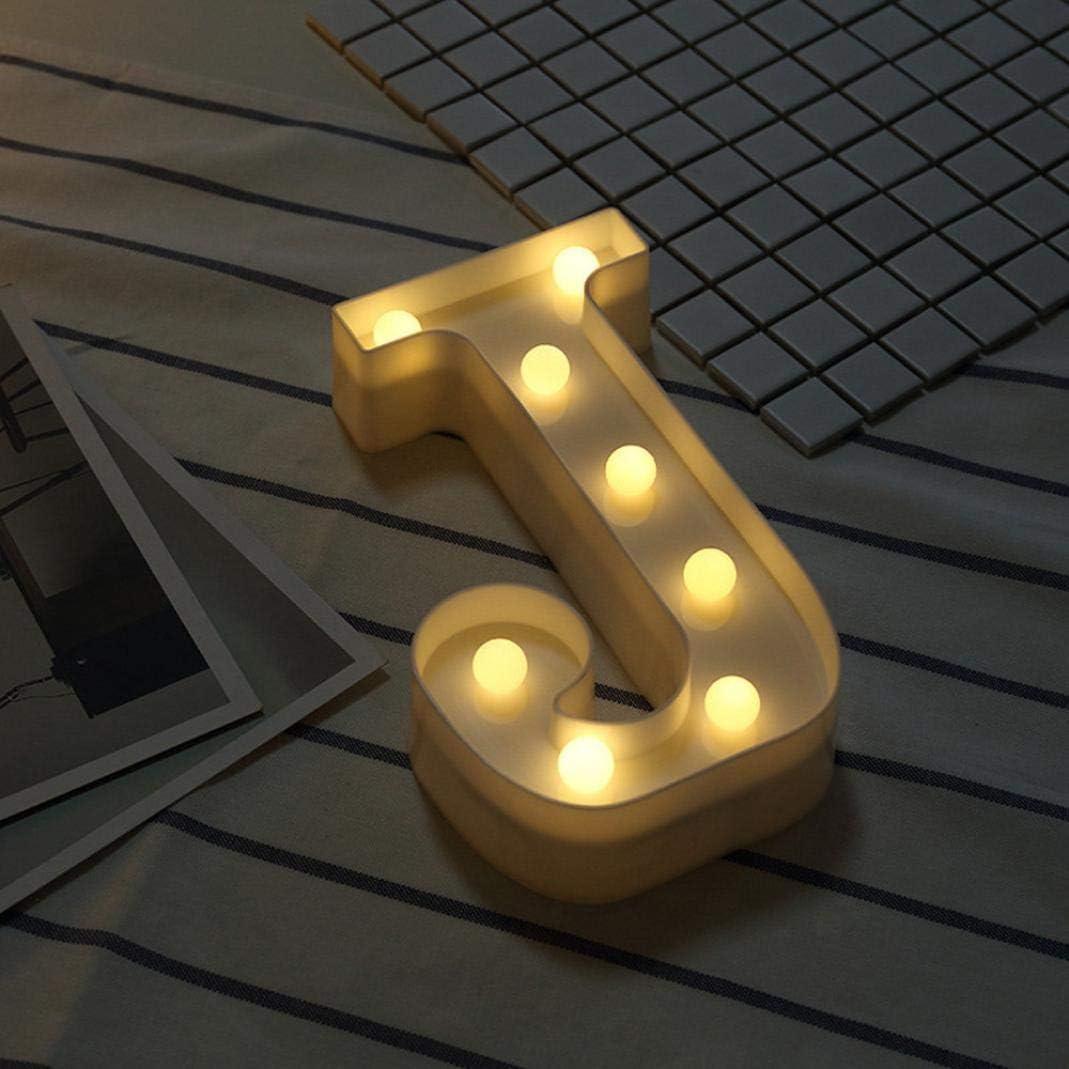 G LED Brief Beleuchtung Alphabet Buchstabe Kunststoff Nachtlichter f/ür Party Hochzeitsfest Geburtstag Dekorationen RC Alphabet Buchstabe Lights