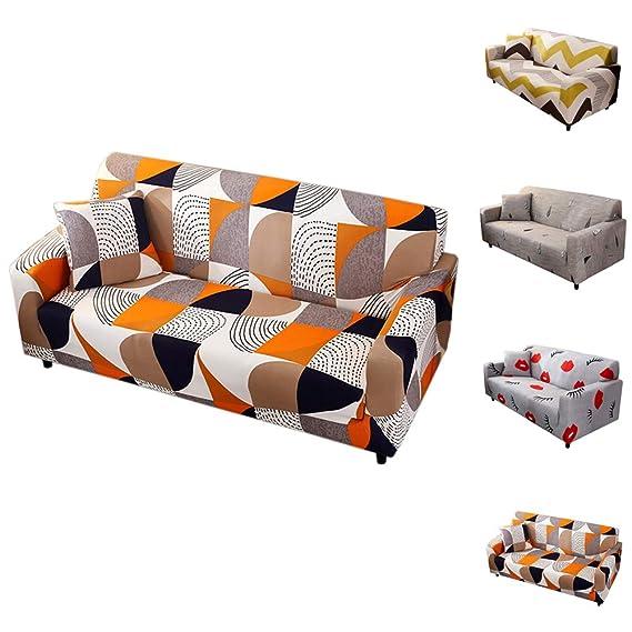 YoZhanhua - Elegante Funda de sofá de Cuatro plazas ...
