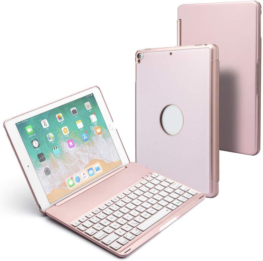 iPad Keyboard for iPad Air/Air 2/ iPad Pro 9.7/ New iPad 2017/2018 Rose Gold