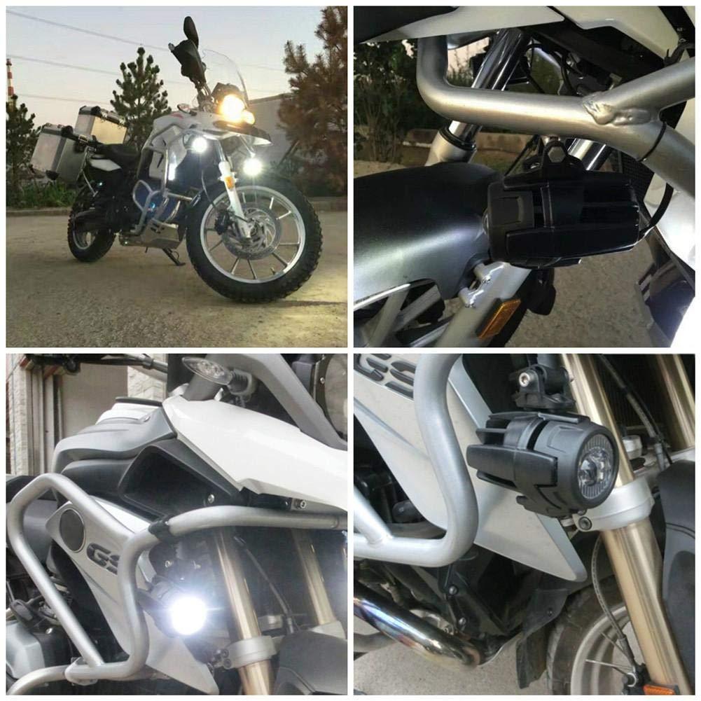 L/ámpara LED 40W 6000K Auxiliar Super Brillante Luz De Niebla De Conducci/ón Bird KitsWater Light Set con Protect Guardia Arn/és De Cableado para La Motocicleta R1200GS F800GS