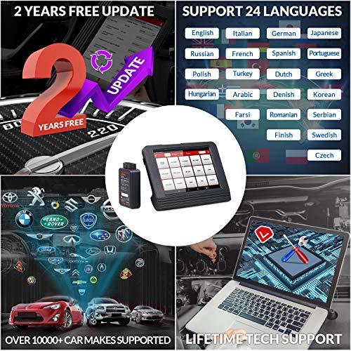 2021 New LAUNCH X431 V Pro (4.0 Version) Bidirectional Scan Tool All System Diagnostic Tool with ECU Coding,Key Programming, Actuation Test, 31+ Relearn Reset Services, EL50448 TPMS Tool