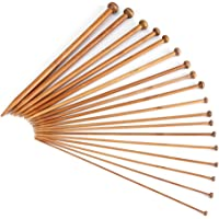 Bamboo Knitting Needles Smooth Double Pointed /Single round Pointed Set, 75pcs/15 Sizes and 36pcs/18sizes from 2mm to 10mm