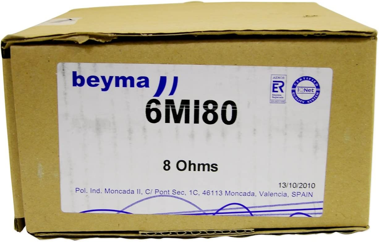 Beyma 6mi80 6.5 Inch 8 Ohm 200 Watt RMS Pro Midbass//midrange Speakers with Copper Voice Coil