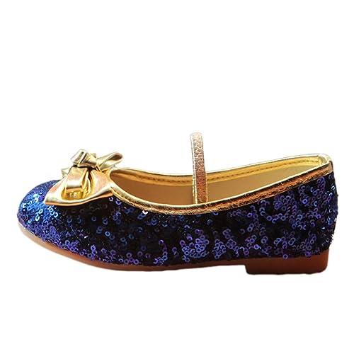 8c40af08433a64 YIBLBOX Gute Qualität Prinzessin Bowknot Schuhe Mädchen Ballerina Schuhe  Pailletten Festlich für Kinder  Amazon.de  Schuhe   Handtaschen