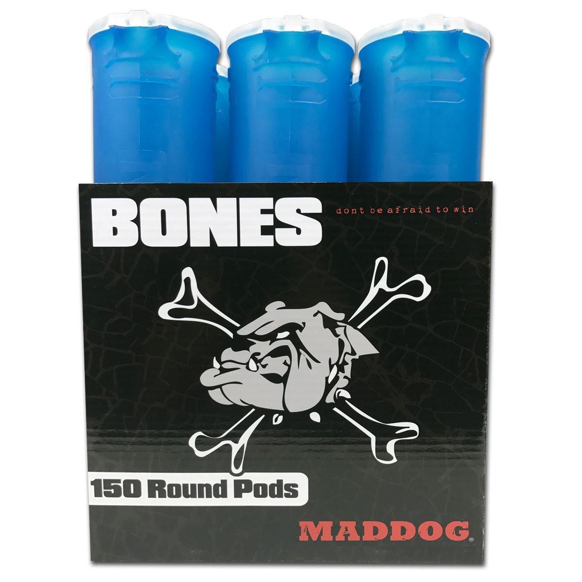 MAddog 150 Round Bones Paintball Pods - Aqua - 6 Pack by MAddog