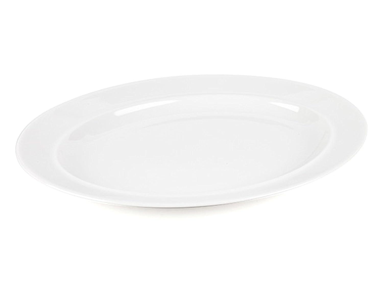 Alessi 1110308X2 La Bella Tavola Porcelain Serving Platter, 36 cm, Set of 2