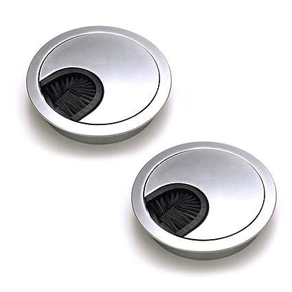 Dioxide 2 Piezas Tapa Pasacables de Metal 60 mm Cubierta de agujero de  mesa, Pasacables de escritorio, Cable Pasaventanas para Mesas de ...