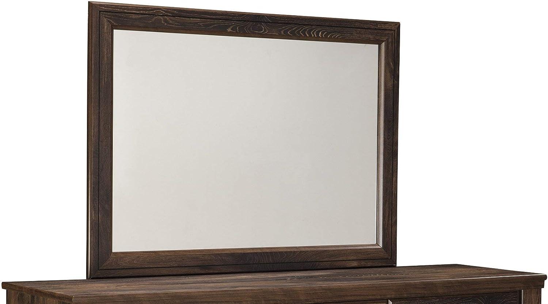 Ashley Furniture Signature Design - Quinden Bedroom Mirror - Component Piece - Dark Brown