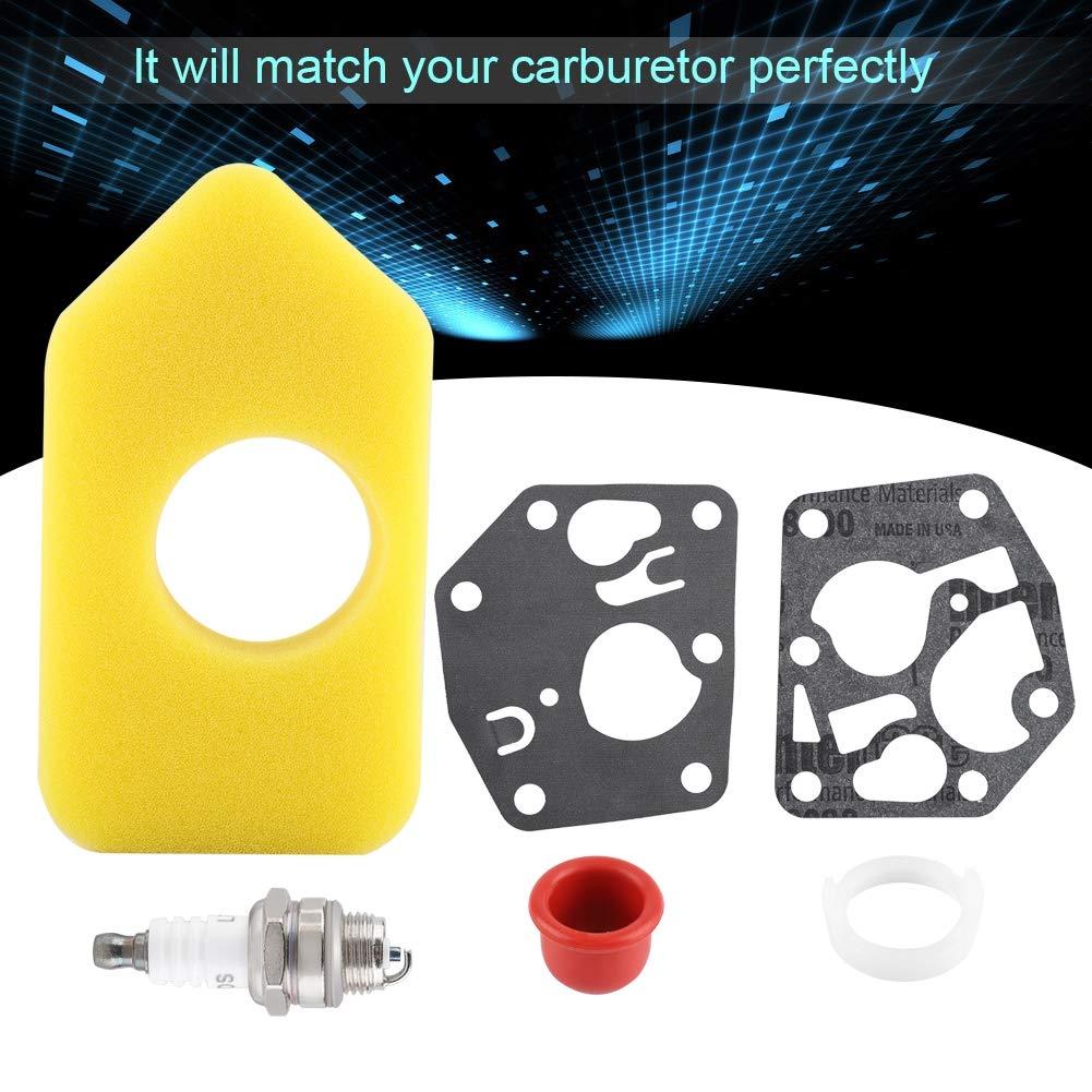 Hztyyier Vergaser-Membrandichtungssatz Luftfilter-Z/ündkerzensatz f/ür Briggs Stratton Kleinmotoren 281028 495770 795083 694394 494408 ersetzen