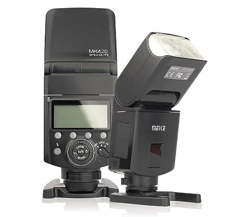 TTL Flash accionado por acumulador de Meike, MK-420 F ...