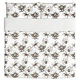 Vintage Exotic Plants Duvet Bed Set 3 Piece Set Duvet Cover - 2 Pillow Shams - Luxury Microfiber, Soft, Breathable