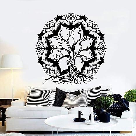 42 * 43 cm Venta Caliente Flor de Loto Abstracto Árbol de la Vida ...