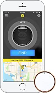 Pebblebee Key Finder Phone Finder Bluetooth Tracker with Replaceable Battery, 200 Feet Range, Amazon Alexa Integrated Skill, Stainless Steel, LED Light, Key Ring Included, Rose Gold