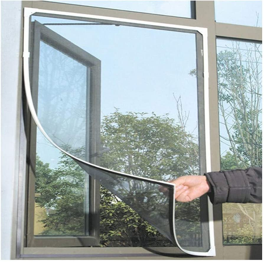 white TXIN 2 Pieces Mosquito Insect Bug Window Screens 130 150cm//51.2 59.2inch Windows Net Mesh for Kitchens Bedrooms Parlour Office