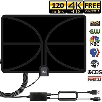 TV Antenna, 2019 New HDTV Indoor Digital Amplified TV Antennas 140 Miles  Range with Amplifier TV Signals, Indoor Antenna for 4K1080P HD Free Local  TV