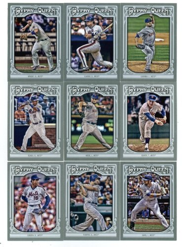2013 New York Mets Topps Gypsy Queen Baseball Complete Mint 9 Basic Card Team Set with David Wright, Tom Seaver, Gary Carter and Dwight Gooden Plus