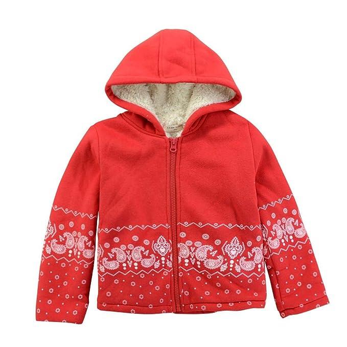 Domybest - Abrigos - para bebé niña Rojo rosso