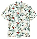Tommy Bahama Men's Big & Tall Breakaway Blooms Silk Camp Shirt (Continental, XLT)