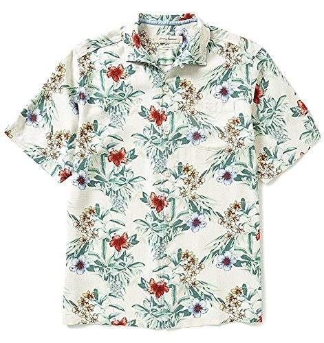 e99c53ae Tommy Bahama Men's Big & Tall Breakaway Blooms Silk Camp Shirt  (Continental, XLT)