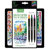 Crayola Brush and Detail Dual Ended Markers Calligraphy