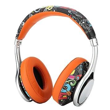 VBESTLIFE Elegantes Auriculares Bluetooth Sobre Oreja Estéreo 3D Ligero Auriculares Inalámbricos para Bluedio Implementó con Micrófono Carga Rapida ...