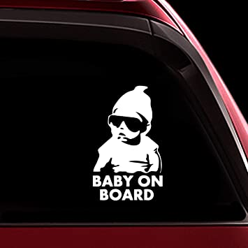 BABY ON BOARD Adhesive Sticker Car Child Window Bumper Vinyl Decal Many Colour