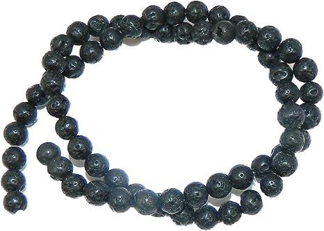 "6mm Volcanic Lava Rock Natural  Round Beads 40cm 15/""  Stone"