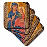 3dRose 3D Rose Spain-Salamanca-Madonna and Child Painting in Cathedral Soft Coasters, Multicolor