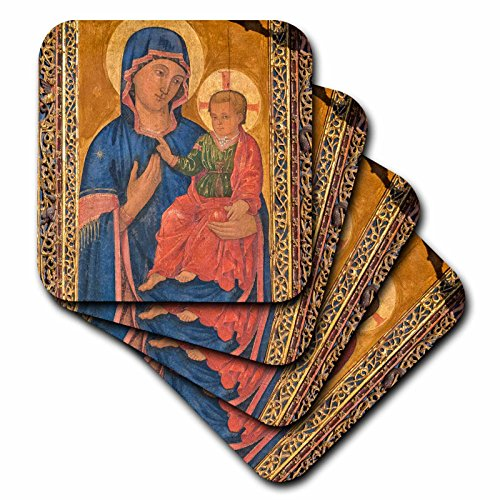 3dRose 3D Rose Spain-Salamanca-Madonna and Child Painting in Cathedral Soft Coasters, Multicolor by 3dRose