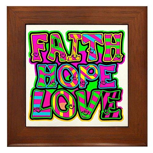 (Framed Tile Faith Hope Love)