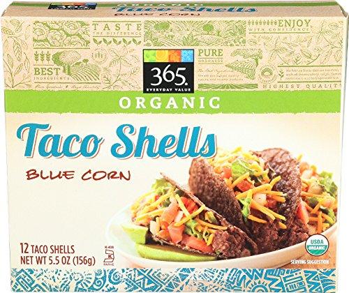 Corn 12 Shells - 365 Everyday Value Organic Taco Shells Blue Corn, 12 ct