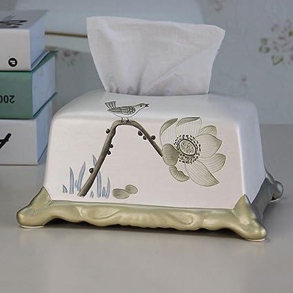 CS Caja de Toallas de Papel de Lotus Art Tallada Salón de casa Caja de pañuelos