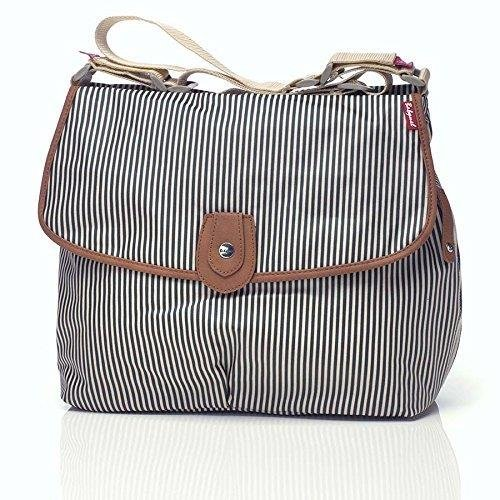2009 Collection Handbag - Babymel BM901 Cross Body,Navy Stripe,One Size