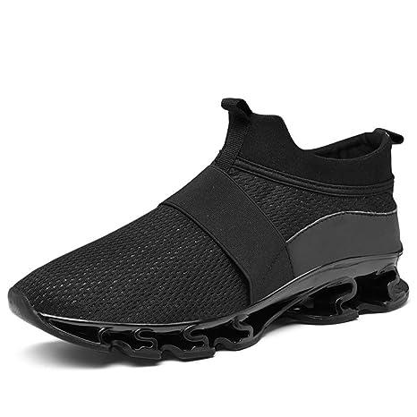 YAN Zapatos de Hombre Zapatillas de Malla Malla Otoño y Invierno Mocasines y Slip-on