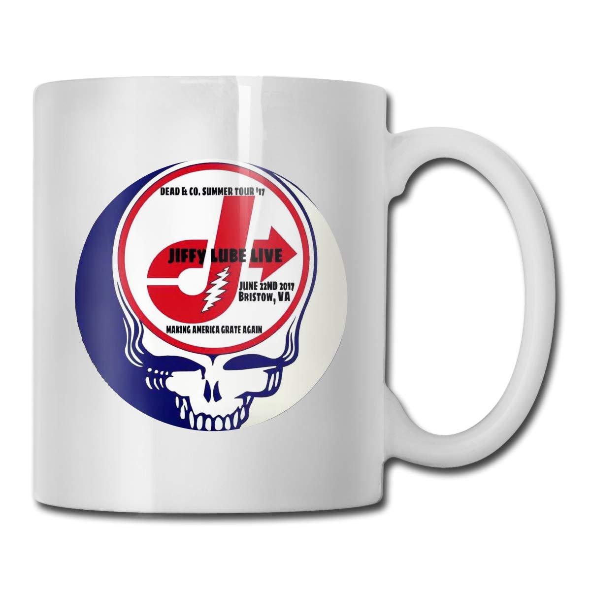 Office Coffee Cup GratefulDeadlogo2 Geblackus 14.72 OZ Capacity Mug is Perfect for CoffeeWhite