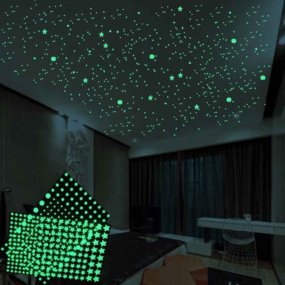 Glow in The Dark Stars is Kids Bedroom Decor.Glow in The Dark Stars for Ceiling.524pcs Dots Ceiling Stars,Wall Stickers for Bedroom Good for Kids Room Decor Too.