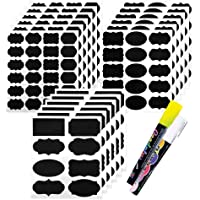 173 Pack Chalkboard Labels with 2 Chalk Markers, Blackboard Storage Stickers for Pantry and Jars: Mason, Spice, Glass, Tin, Container, Canister, Small, Medium, and Large Removable and Reusable Set