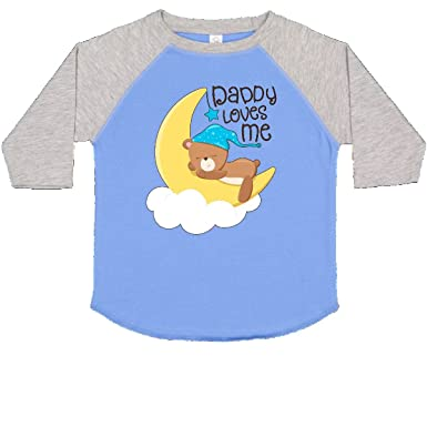 5276d6b20 inktastic - Daddy Loves Me- Little Toddler T-Shirt 2T Blue and Heather 2e830