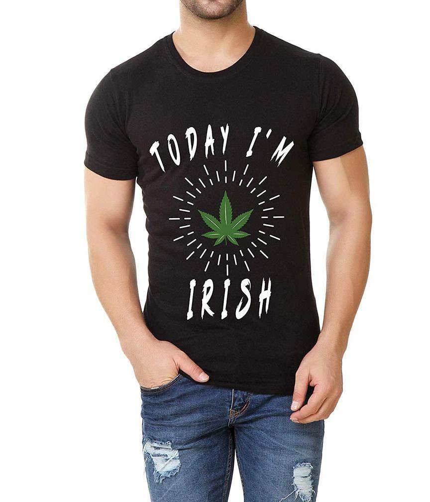 Funny Shamrocked Black Weed S T Shirt Printing Short Sleeve Tee