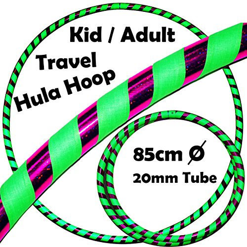 KID's HULA HOOPS - Quality Weighted Children's Hula Hoops! Great For Exercise, Dance, Fitness & FUN! NO Instructions needed! Same Day Dispatch! (UV Green / Purple Glitter)