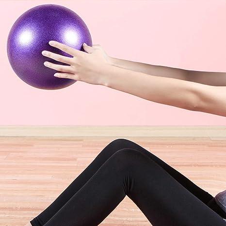 Corneliaa Tamaño pequeño Yoga de la Aptitud de la Bola Antideslizante Yoga Bola del Balance de Fitball Bola de Prueba