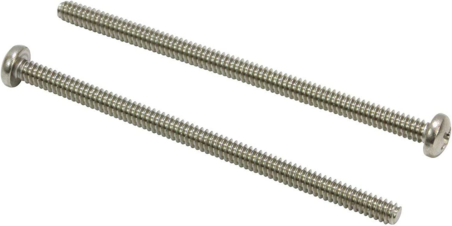 #8-32 Thread Size #2 Phillips Drive 2 Length Fully Threaded Pack of 50 Import Meets ASME B18.6.3 Steel Pan Head Machine Screw Yellow Zinc Plated