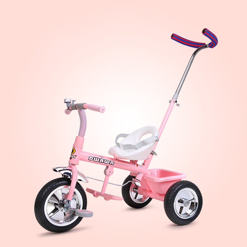 XQ 耐衝撃性 子供 1-3歳 トロリー ベビーキャリッジ 子ども用自転車 ( 色 : ピンク ぴんく ) B07C6RJWDS ピンク ぴんく ピンク ぴんく