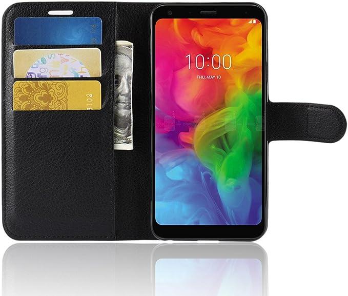 SPAK LG Q7 Funda,Ultra Slim PU Leather Flip Cubierta con Función ...
