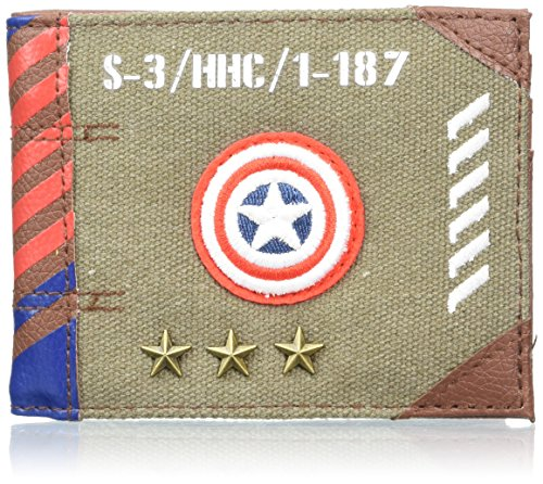 Marvel Captain America Vintage Military Army Zip Top Wallet from B B Designs Europe Ltd