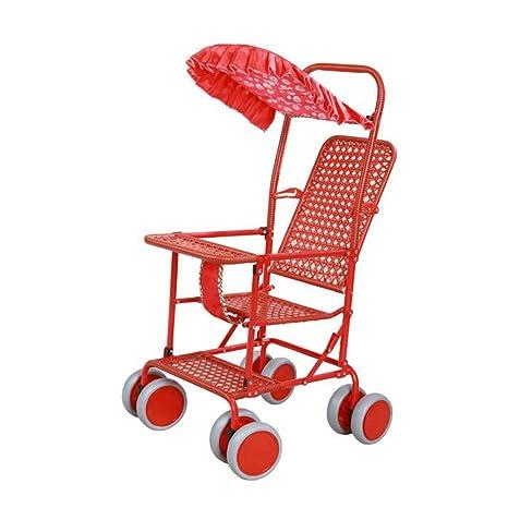 YXINY Carritos y sillas de Paseo Imitación De Ratán Cochecitos Ultraportabilidad Plegable Bambú De Imitación Rota