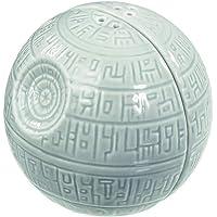 Star Wars Salt & Pepper Shakers: Death Star, Ceramic, Grey, 7.9 x 7.6 x 7.6 cm