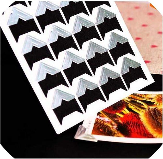 HAN SHENG 25 Sheets Self-Adhesive Photo Mounting Corners Photo Corners Stickers for DIY Scrapbooking Picture Album Personal Journal 24 Pcs//Sheet